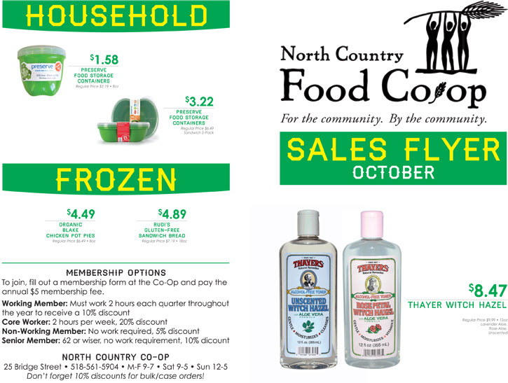 October Sales at the Co-op!