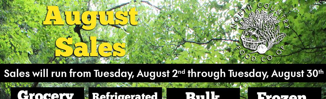 August Sales!